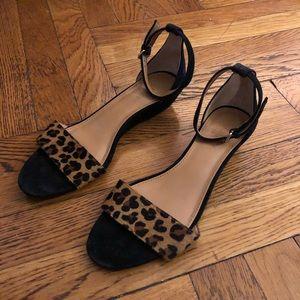 J.Crew Cheetah Print Ankle Strap Sandal